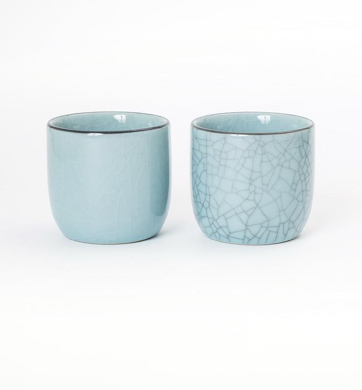 Чашки Цин Ци (селадон) из Лунцюаня 100 мл.  - фото