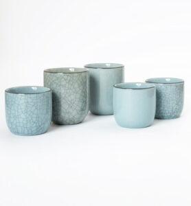 Чашки Цин Ци (селадон) из Лунцюаня 100 мл.  - фото 2