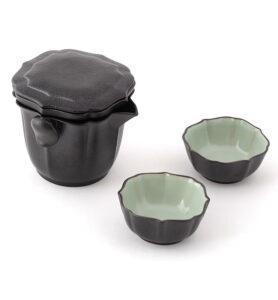 nabor lotos 1 278x300 - Сервиз керамический Жу Яо на 2 персоны в черном кофре