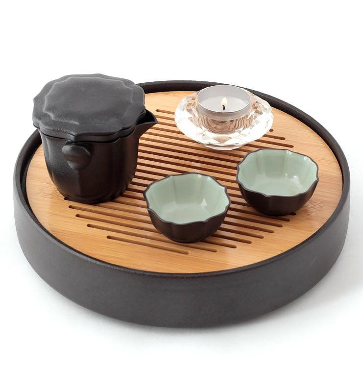 nabor lotos 4 - Сервиз керамический Жу Яо на 2 персоны в черном кофре