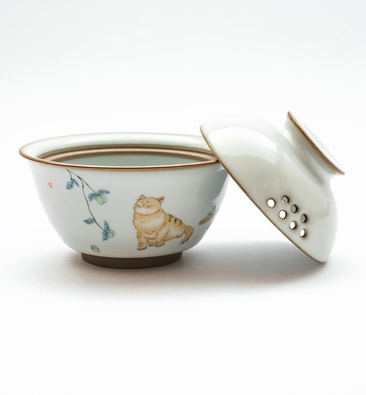 Гайвань селадоновая с котиком  - фото 2