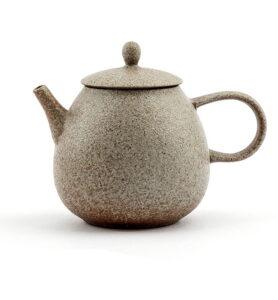 Керамический чайник со светлой глазурью 200 мл  - фото