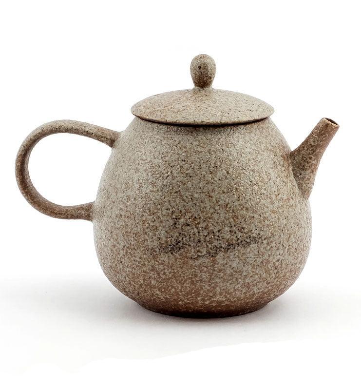 Керамический чайник со светлой глазурью 200 мл  - фото 3