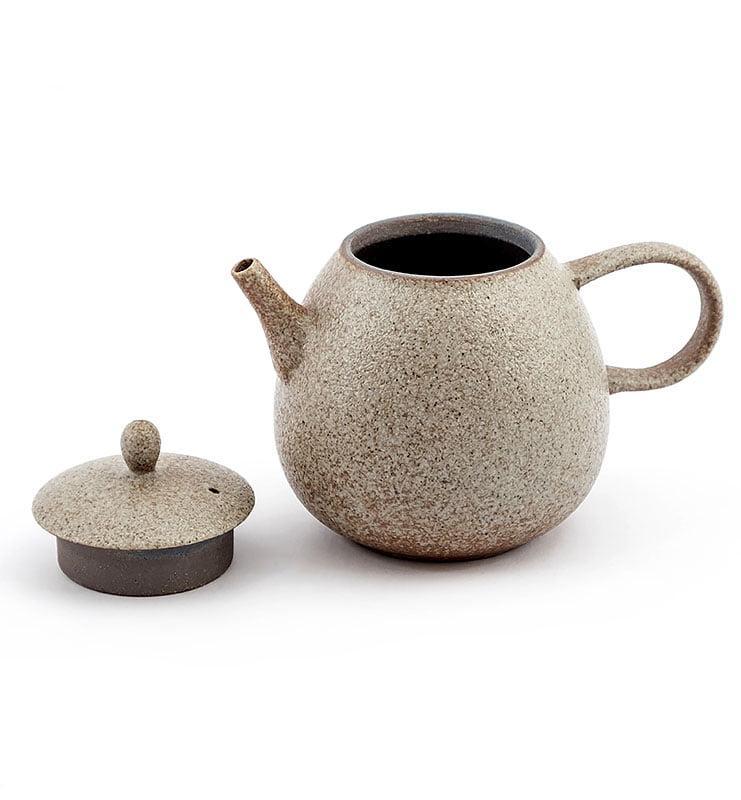 Керамический чайник со светлой глазурью 200 мл  - фото 4