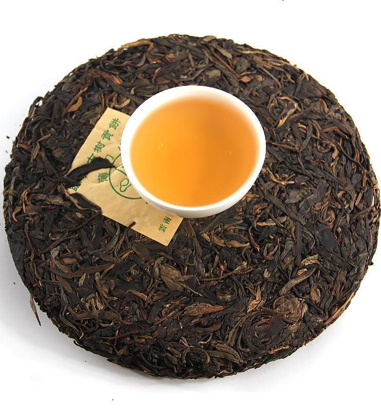 """baodao green 4 - Шэн Пуэр """"Бао Дао Шэн"""" прессованный чай 2014г (№300)"""
