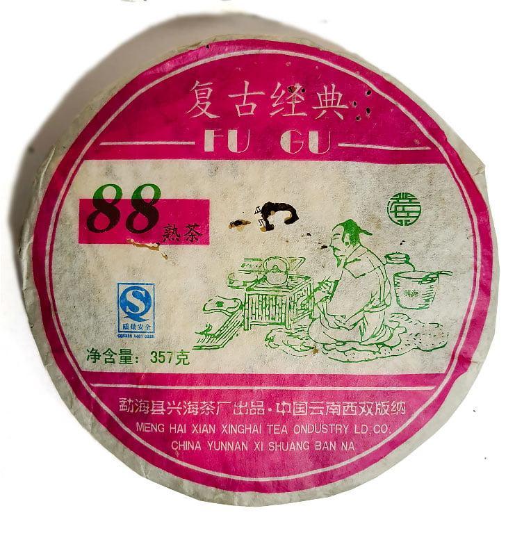 Шу Пуэр «Фу Гу 88» чай выдержанный 2006г. (№800)  - фото