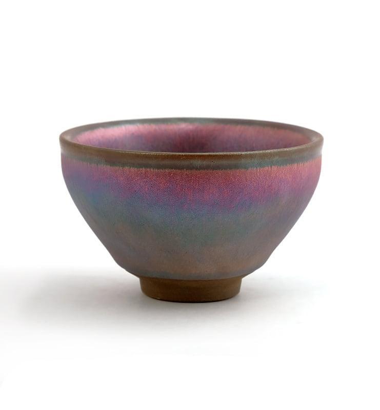 cup rbw 17 - Чашка керамические Тэммоку «Шелковая радуга» 75мл