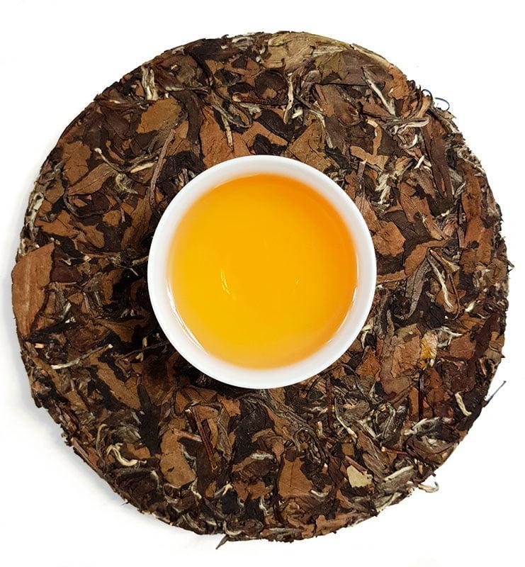 """laobaichabin 5 - Белый прессованный чай """"Лао Бай Ча Бин"""" 2016г (№600)"""
