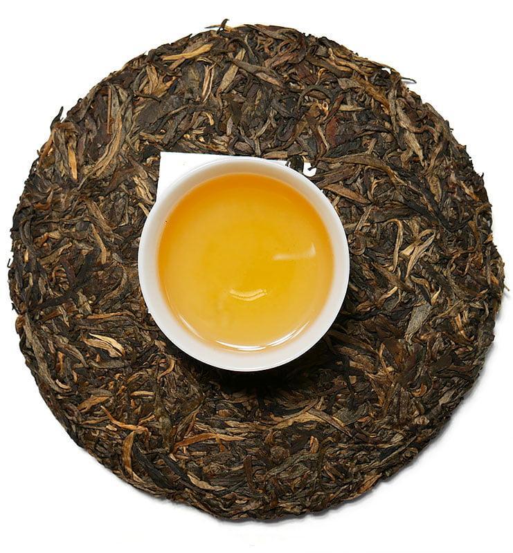 Шэн Пуэр «Менку Цзинь Я» чай 2016г (№700)  - фото 4