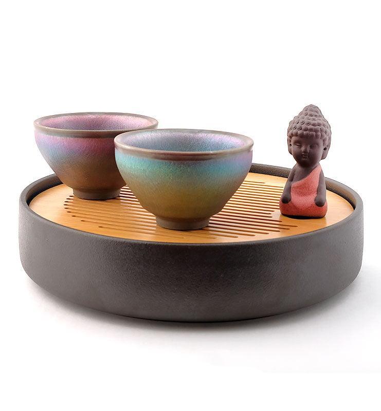 cup rbw 11 - Чашка керамические Тэммоку «Шелковая радуга» 75мл