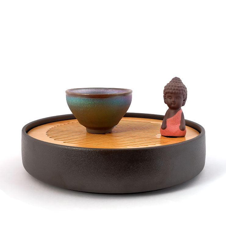 cup rbw 12 - Чашка керамические Тэммоку «Шелковая радуга» 75мл