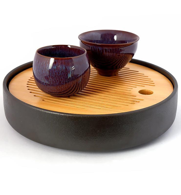 cuppur 1 - Чашка керамические Тэммоку фиолетовая 70мл