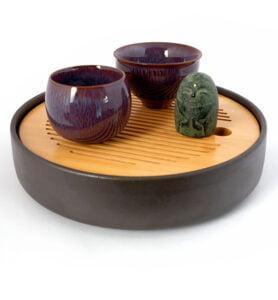cuppur 2 278x300 - Чашка керамические Тэммоку фиолетовая 70мл