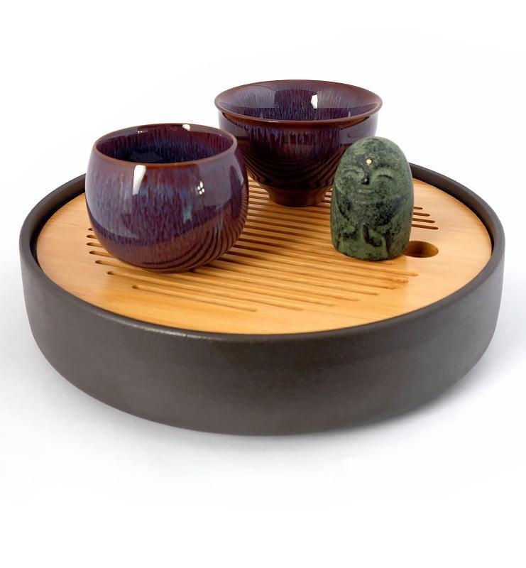cuppur 2 - Чашка керамические Тэммоку фиолетовая 70мл