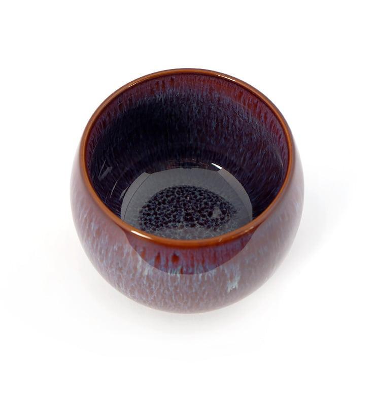 cuppur 3 - Чашка керамические Тэммоку фиолетовая 70мл