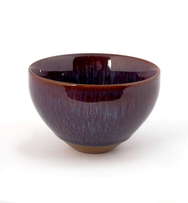cuppur 4 - Чашка керамические Тэммоку фиолетовая 70мл