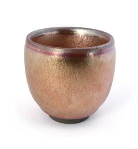 goldcup 1 278x300 - Чашка керамические Тэммоку «Шелковая радуга» 75мл