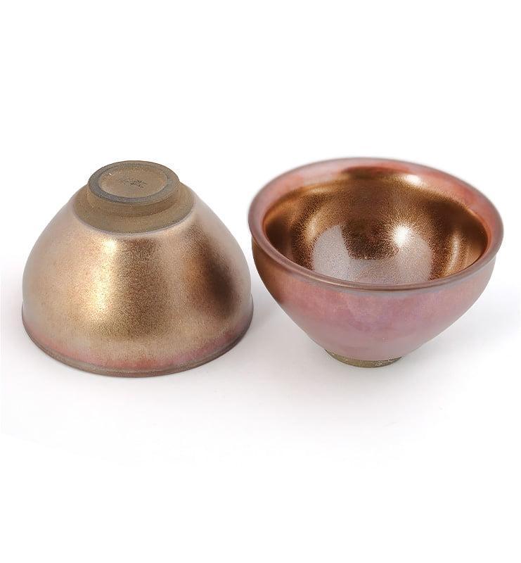 goldcup 7 - Чашка керамические Тэммоку «Сияние меди» 75мл