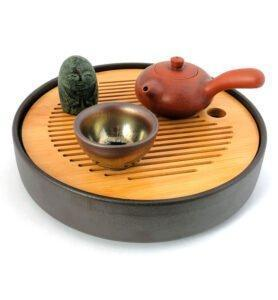 japan stile 1 278x300 - Чайник из исинской глины с боковой ручкой 100 мл.
