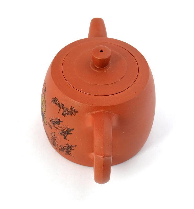 Чайник из исинской глины «Цзинлань» (Ограда колодца) 225 мл.  - фото 5