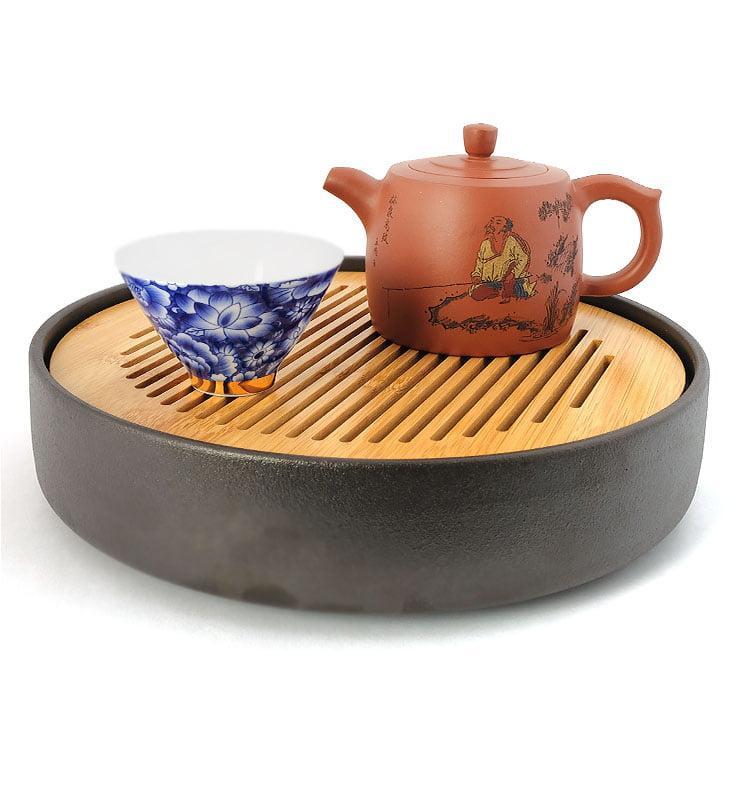 Чайник из исинской глины «Цзинлань» (Ограда колодца) 225 мл.  - фото 3