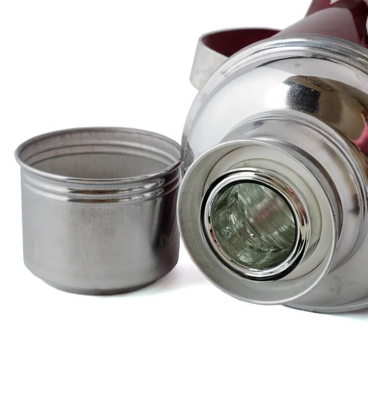 Термос со стеклянной колбой металлический 1,2 л