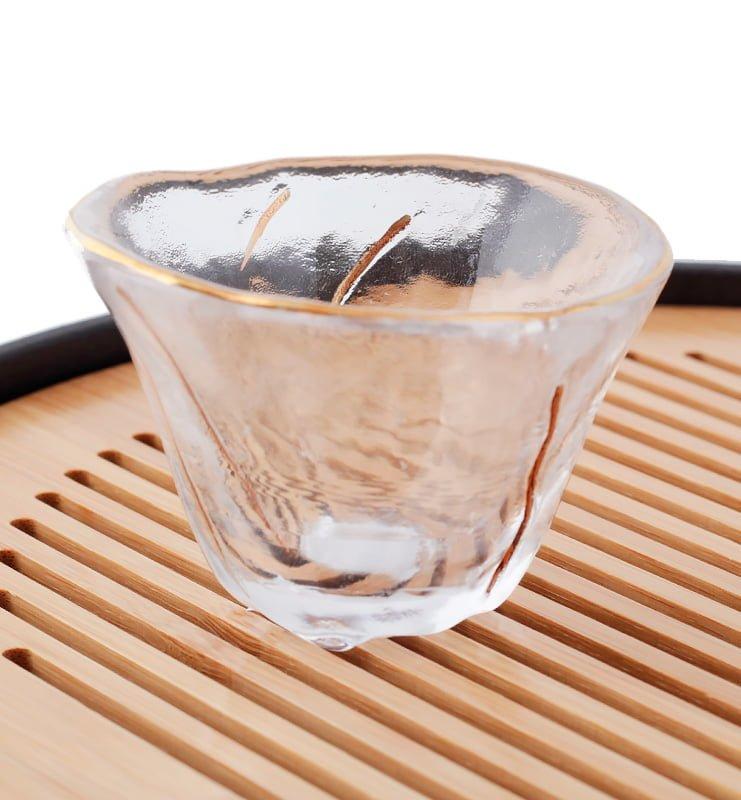 Чашка из стекла с золотыми линиями 50 мл