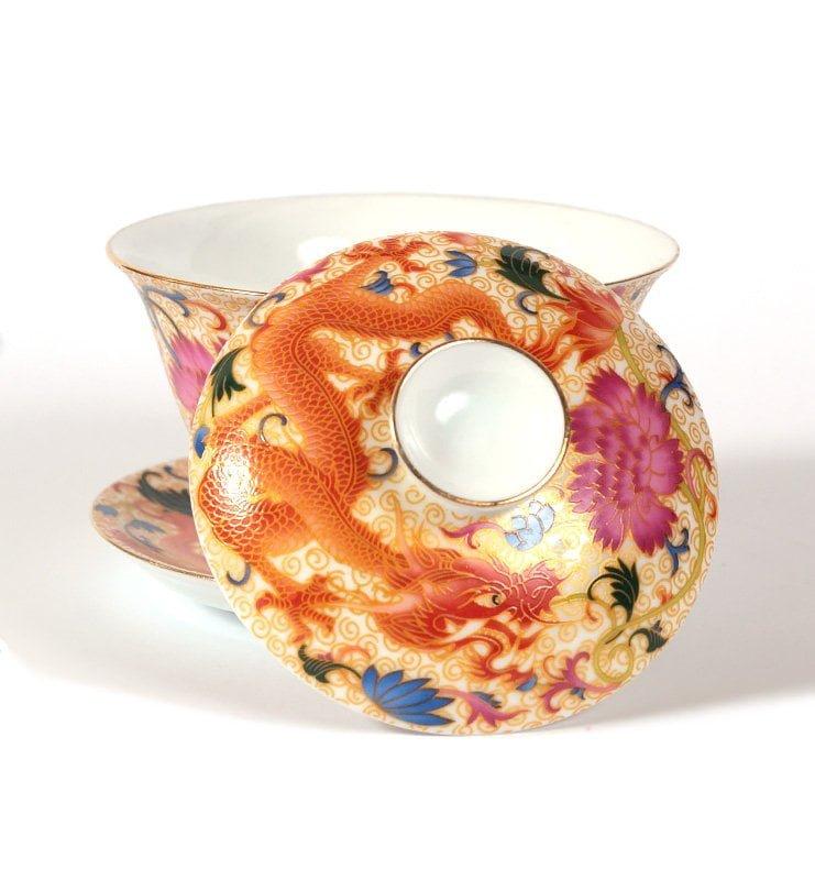 """Гайвань """"Червоний Дракон"""" для традиційного заварювання чаю, 180 мл"""