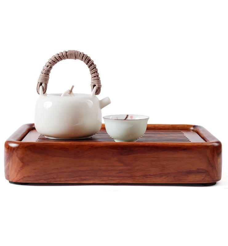 japcup 10 - Белый чайник в японском стиле с ротанговой ручкой 225 мл