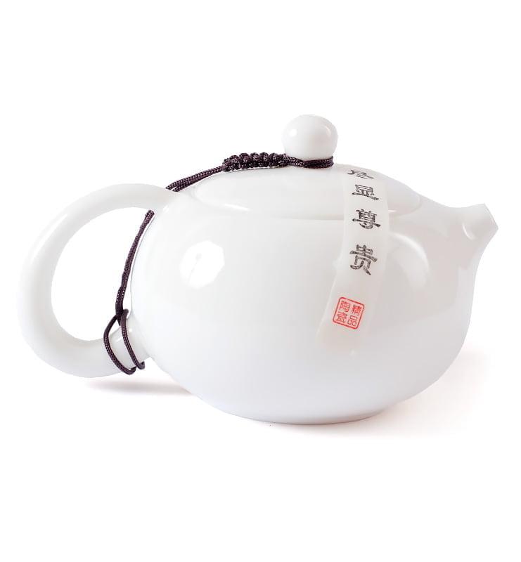 wdfgdffd 2 - Белый фарфоровый чайник Сиши 225мл