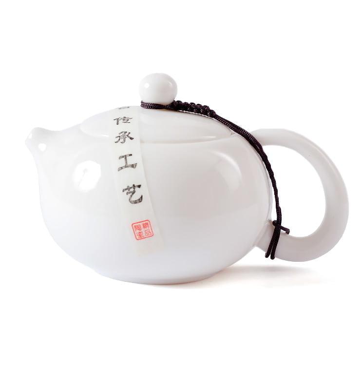 wdfgdffd 4 - Белый фарфоровый чайник Сиши 225мл