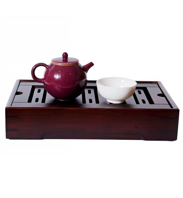 Керамический чайник с красной глазурью 150 мл